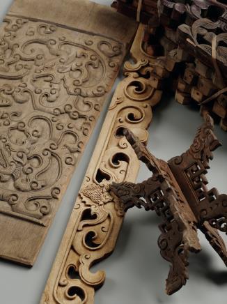 清  柴木家具构件一组