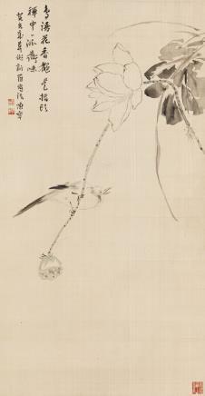 陈半丁 鸟语花香