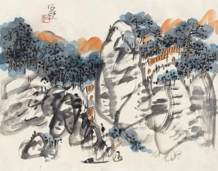 陈子庄 山居图