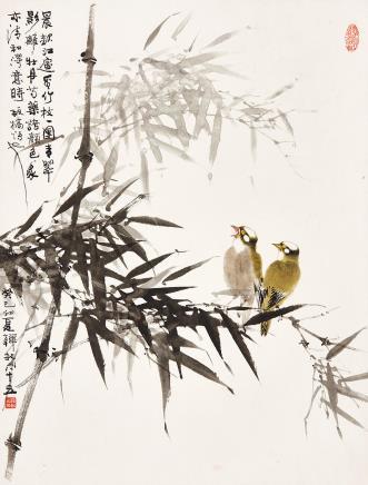 韩敏雀倚修竹