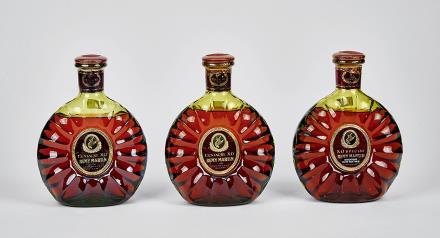 70年代人头马青瓶XO 共3瓶