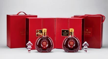 90年代末路易十三金头顶级干邑共2瓶