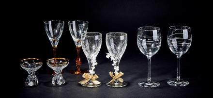 水晶玻璃红酒杯四对 8只