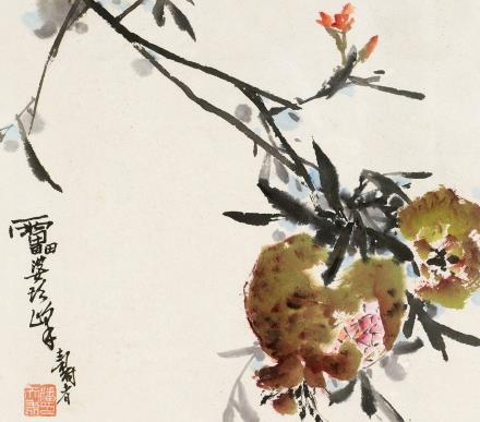 潘天寿石榴