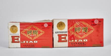 80年代东阿阿胶二盒