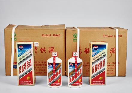 2013年茅台民航特供VIP酒二箱共24瓶