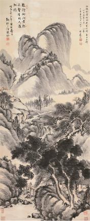 戴熙 古代 溪山隐居图