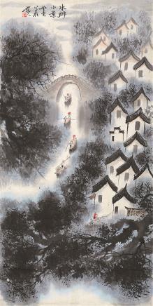 张登堂 当代 水乡小景