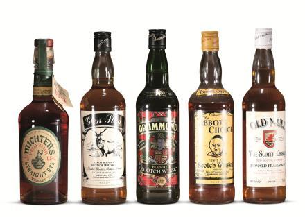 80年代威士忌一组