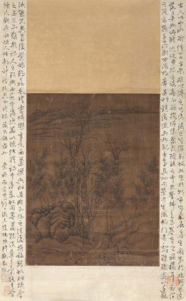 倪瓒(1301-1374)寒山竹影图