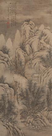 杨晋(1644-1728)关山雪霁图