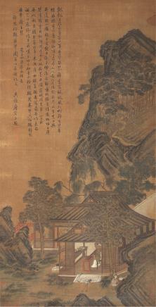 唐寅(1470-1524)白鹤听琴图