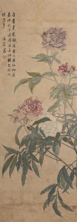 汤世澍(1831-1903)芍药添香图