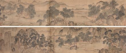 唐寅(1470-1524)水田春耕图