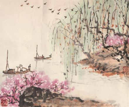 钱松嵒(1899-1985)山水