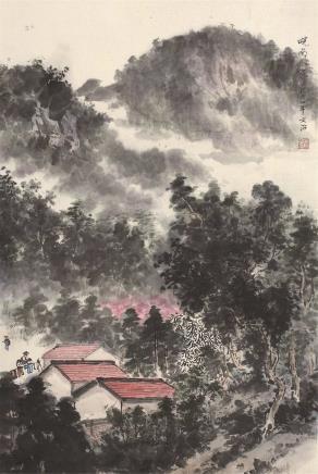 宋文治(1919-2000)皖南人家