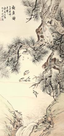 金梦石(1869-约1952)封侯图