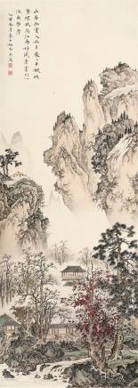冯忠莲(1918-2001)山居幽赏图