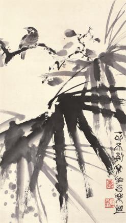 韩天衡(b.1940)棲禽图