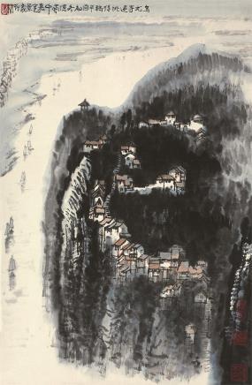 李行简(b.1937)蜀中景色