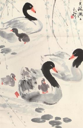 王为政(b.1944)天鹅湖上