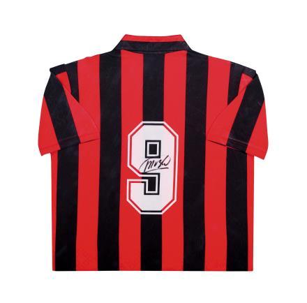 范巴斯滕亲笔签名 89/90赛季AC米兰主场球衣