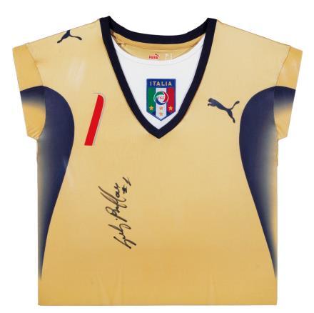 布冯亲笔签名 2006世界杯意大利门将球衣(前签)