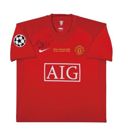 C罗亲笔签名 07/08赛季曼联欧冠主场球衣(前签)