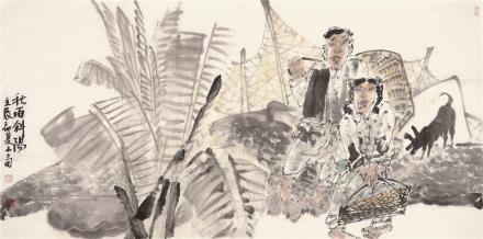 陈小奇 秋雨斜阳、山楂树一组二帧(二选一)