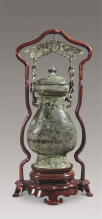 仿古青铜吊壶