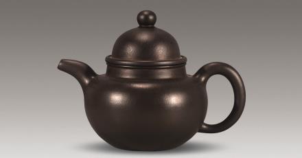二十世纪怀古氏紫砂掇球壶