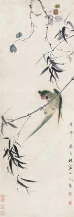 华嵒 (1682-1756) 鹦鹉1750年作