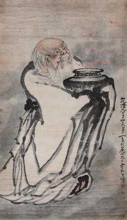 黄慎 (1687-1770) 寿星招福图1744年作