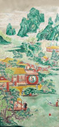 陈国治 (清) 西园游春