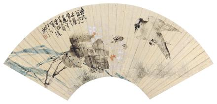 朱梦庐 (1826-1900) 野趣1870年作