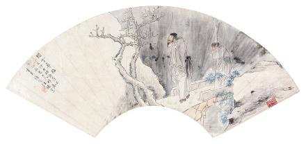 汪镛 (1729-1804) 踏雪寻梅1893年作