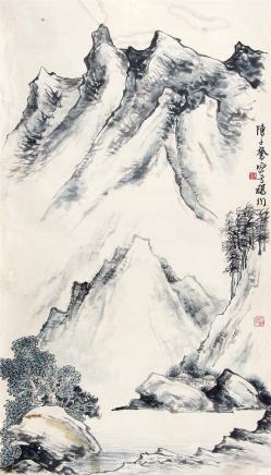 陈子奋 (1898-1976) 闽江村居