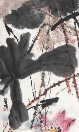 郑乃珖 (1911-2005) 荷花