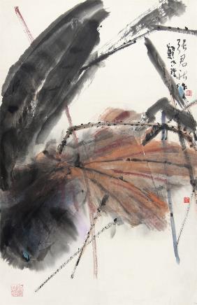 郑乃珖、张君秋 (1911-2005) 荷花
