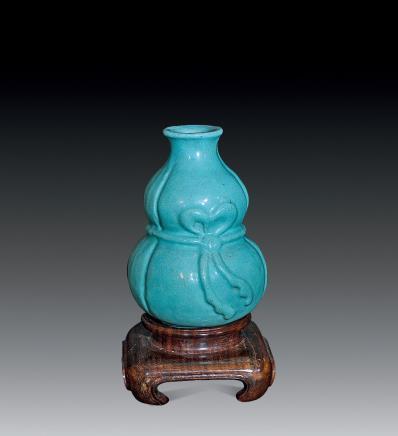 清 松石釉葫芦瓶