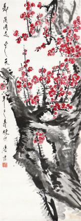 唐云(1910-1993)红梅