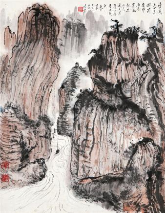 钱瘦铁(1897-1967)蜀山记游