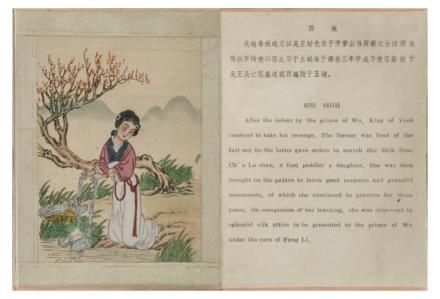 中国古代美人图                             民国手绘