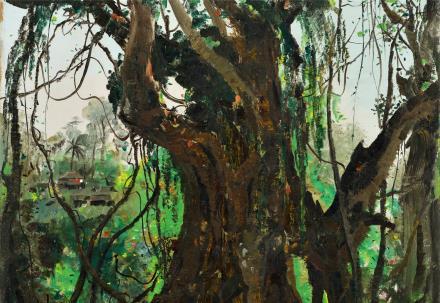 吴冠中(1919~2010)08211978年作 西双版纳榕树 布面 油画